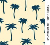 palms. seamless vector pattern. ... | Shutterstock .eps vector #484448557