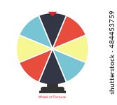 wheel of fortune  lucky icon.... | Shutterstock .eps vector #484453759