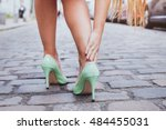 blisters  woman on high heels... | Shutterstock . vector #484455031