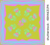 pattern of floral motif   frame....   Shutterstock .eps vector #484463194
