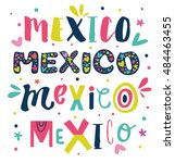 """bright typographic """"mexico""""in... 