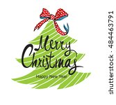 happy new year  merry christmas ...   Shutterstock .eps vector #484463791