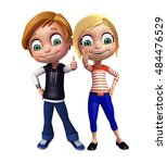 3d rendered illustration of kid ... | Shutterstock . vector #484476529