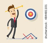 manager or businessman throws... | Shutterstock .eps vector #484481101