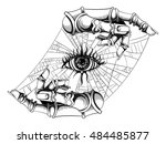 eye hitched to the hands | Shutterstock .eps vector #484485877