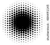 circle halftone element ... | Shutterstock . vector #484491145