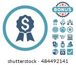 banking award icon with bonus... | Shutterstock .eps vector #484492141