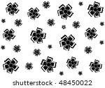 black flowers on a white... | Shutterstock .eps vector #48450022