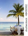 Outdoor Beach Restaurant At...
