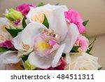 two beautiful wedding gold... | Shutterstock . vector #484511311