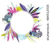 abstract floral elements paper... | Shutterstock .eps vector #484512535