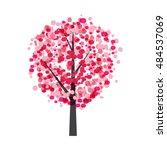 autumn tree background vector...   Shutterstock .eps vector #484537069