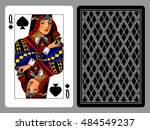 queen of spades playing card...