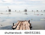 Wooden Bridge With A View Of...