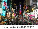 new york   circa september 2016 ... | Shutterstock . vector #484552495