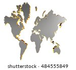 3d illustration. world map on a ... | Shutterstock . vector #484555849