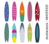 surfboards isolated on white...   Shutterstock .eps vector #484559335
