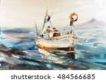 Fishing Schooner Seascape ...