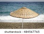 The Sun Umbrella On The Beach....