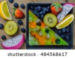 Top View Of Mixed Jelly Fruits...