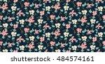 seamless floral pattern   Shutterstock .eps vector #484574161