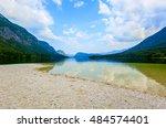 landscape of lake bohinj ... | Shutterstock . vector #484574401
