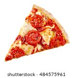 top view of a slice of... | Shutterstock . vector #484575961