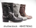 women boots shoes isolated