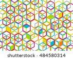 colorful geometric backdrop | Shutterstock . vector #484580314