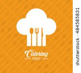 catering service restaurant and ... | Shutterstock .eps vector #484585831