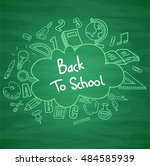 green blackboard background... | Shutterstock . vector #484585939