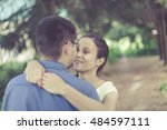 happy young couple in love... | Shutterstock . vector #484597111