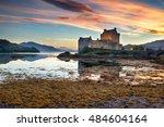 beautiful sunset over the... | Shutterstock . vector #484604164