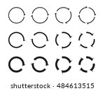 set of black circle vector... | Shutterstock .eps vector #484613515