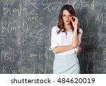 young smart sexy woman in... | Shutterstock . vector #484620019