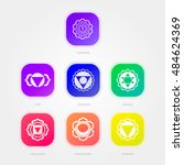 the seven chakras | Shutterstock .eps vector #484624369