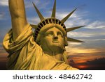the famous statue of liberty... | Shutterstock . vector #48462742