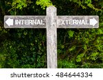 wooden signpost with two... | Shutterstock . vector #484644334
