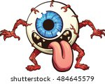 eyeball monster. vector clip...