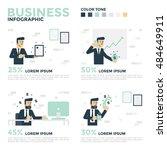 business infographics.... | Shutterstock .eps vector #484649911