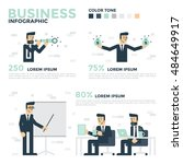 business infographics.... | Shutterstock .eps vector #484649917