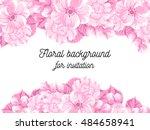 vintage delicate invitation... | Shutterstock .eps vector #484658941