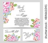 romantic invitation. wedding ... | Shutterstock . vector #484661041