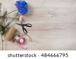 lovely bouquet in a flower shop | Shutterstock . vector #484666795