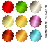set colorful star badge on... | Shutterstock . vector #48468478