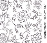 background with hand drawn... | Shutterstock .eps vector #484694437