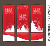 merry christmas and happy new... | Shutterstock .eps vector #484696474