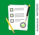 school exam test results vector ... | Shutterstock .eps vector #484700545
