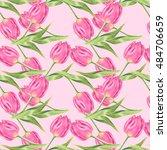 Tulips Pattern. Vintage...