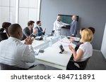 multiethnic partnership between ... | Shutterstock . vector #484711891